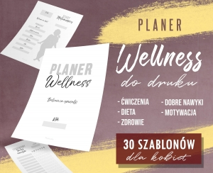 PLANER WELLNESS do druku
